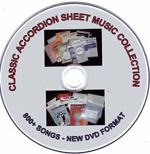 800+ HUGE VINTAGE ACCORDION SHEET MUSIC COLLECTION (CDS 1-10) on DVD Format
