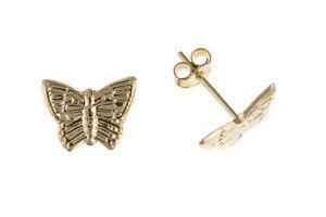 Childrens 9ct Gold Butterfly Earrings E R J Co