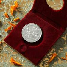 Laxmi Ganesha Coin in Silver 10 Grams Perfect Token of Luck & Best wishes