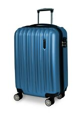 Starke Polycarbonate Hardsided Luggage, Colossal Blue, 4 Spinner Wheels