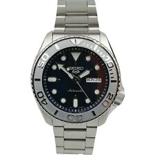 Seiko 5 Sports Customised YachtMaster Bezel Steel Bracelet Automatic Mens Watch