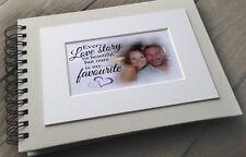 Personalised luxury scrapbook photo album guestbook Engagement Wedding