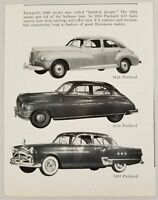 1954 Magazine Photo 1946, 1948 & 1951 Packard Cars All 4-Doors