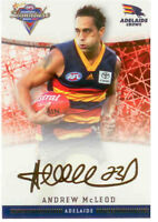 2007 Select AFL Champions Gold Foil Printed Signature FS4 Andrew McLeod (Adel.)