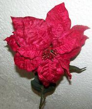 Rojo Estrella de Navidad con Luz Brillo Capa 65cm