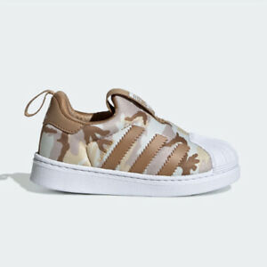 Adidas EE8390 toddler kids Superstar 360 Infant I baby shoes brown