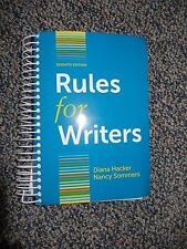 Rules for Writers Seventh Edition by Diana Hacker/Nancy Sommers