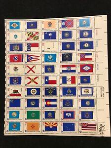 US Scott # 1632 - 1682 13c 1976 US Bicentennial State Flags Mint Sheet Free SHIP