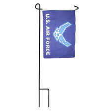 """12x18 12""""x18"""" U.S. Air Force USAF Blue Wings Sleeved w/ Garden Stand Flag"""