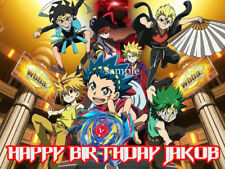 BEYBLADE Edible CAKE Topper ICING Image Decoration Personalized FREE SHIP