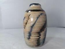 Unique studio art pottery stoneware Jar,Vase MCM signed
