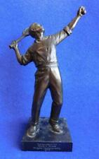 Vintage Tennis Trophy 1946 Quality Bronzed Figurine Made in Germany.