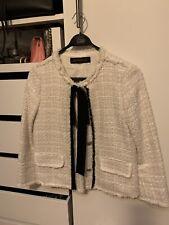 Bouclé Tweed Blazer Jacke ZARA Gr. 36 S Glitzerfaden Neuwertig