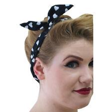 Banned Vintage Rockabilly Haarband Stirnband Haarreif No Talking Dunkelblau