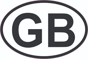 GB Sticker Oval EU European Road Legal Vinyl Car Sticker Badge