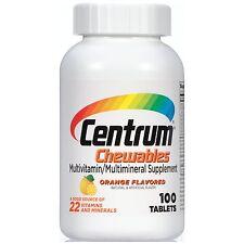 Centrum Multivitamin/Multimineral Supplement Orange Burst Flavor, 100-ct