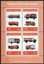 Madagascar 2019 MNH Fire Engines Trucks 4v M/S Stamps