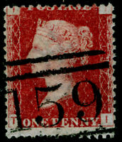 SG43, 1d rose-red plate 137, FINE USED. TI
