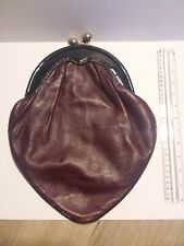 Vintage Italian Leather Handbag Gabbrielli Purse Maroon - Made in Italy