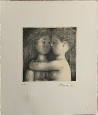 ANTONIO BUENO litografia Le Due Amiche 28x24 firmata autentica