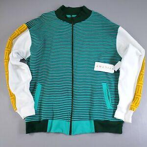 Filthy Dripped Men's XL Fleece Lined Sweatshirt Long Sleeve Striped Sweater