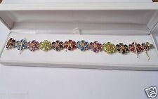 LADIES 14KT YELLOW GOLD GEM STONE BRACELET WITH 2 CERTIFIED APPRAISAL'S