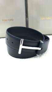 TOM FORD Black T Buckle Belt Size 110 cm / 44 Inch (100% Authentic & New)