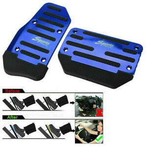 Blue Universal CAR Automatic Brake Foot Pedal Pad Cover Accelerator Pad Cover