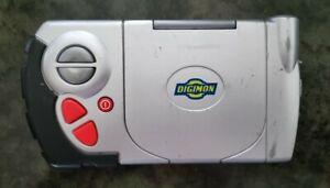 RARE Digimon Digivice D-Terminal Silver Bandai 2000 Handheld Database Toy Works
