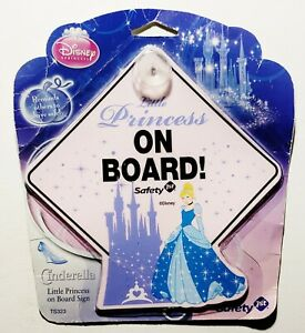Disney Princess Little Princess On Board! Car Window Cling Sign Decal *NEW* Baby