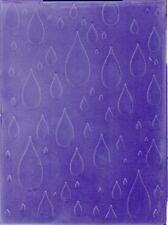 Folders ... to die for Embossing Folder template - Rain / Tear Drops