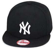 """New Era New York Yankees Snapback Hat ALL BLACK/White """"NY""""/Grey Bottom"""