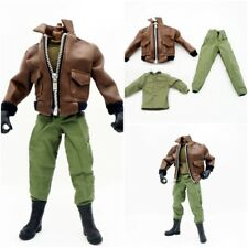 """1/6 Scale Leather Jacket Pants Shirt Soldier Accessories For 12"""" Action Figure"""