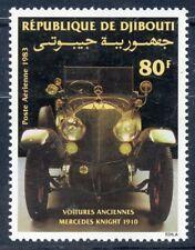 TIMBRE REPUBLIQUE DE DJIBOUTI PA N° 191 ** VOITURE ANCIENNE MERCEDES KNIGHT 1910