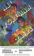 BOXING ART PRINT - Ali - Foreman - Zaire by Leroy Neiman Muhammad George Poster