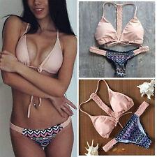 Costume Da Bagno Stampa lacci Bikini Mini string slim sling Swimwear Swimsuit L