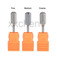 3Pcs Tungsten Carbider Nail Dril Bits Rotary Burr Smooth Round Manicure Art Tool