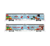 KATO 1062016A N 2016 Operation North Pole Christmas Train 2-Car Add-On 106-2016A