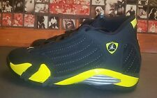 Nike Air Jordan XIV 14 Retro THUNDER BLACK YELLOW  Sz 12