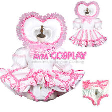 Romper  Sissy baby maid PVC Vinyl dress lockable  CD/TV Tailor-made[G3704]