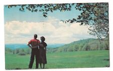 HONEYMOON in the COUNTRY Couple Arms Wrapped Ohio Postcard OH 1956 OZZIE SWEET