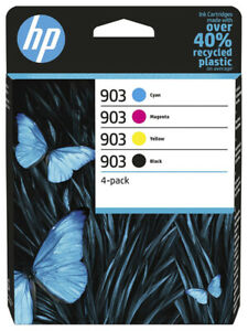 4x ORIGINAL HP 903 TINTE PATRONEN OfficeJet 6950 6962 6960 6961 6963 6964 6965