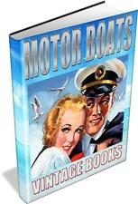 Motor Boats Vintage Book Collection 19 Books on DVD Navigation Sea Maritime