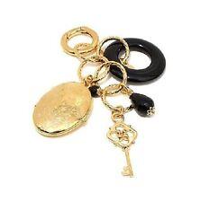 Bellezza Locket, Key and Onyx Bronze Charm Pendant