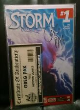 Storm #1 Signed by Geg Pak Midtown Comics COA