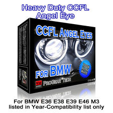 7000K White Heavy Duty BMW CCFL Angel Eye Halo Ring 131 mm x 4 E46 E39 E38 E36