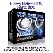 7000K White Heavy Duty BMW CCFL Angel Eye Halo Ring 131 mm x 4 E46 E39 E38 E36