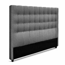 Artiss King Size Upholstered Fabric Headboard - Grey (BFRAME-E-RAFT-K-LI-GY)
