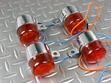 Set de 4 clignos chromés cabochons oranges Honda Dax ST70 6V / Direct Japon