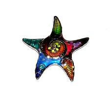 PENDANT/NECKLACE ST Brightly Colored Enamels GIANT FANTASY STARFISH